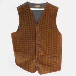 J Riggins Men's Brown Vest L CL2956 0220